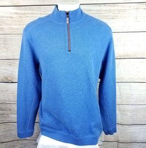 Tommy Bahama Reversible 1/4 Zip Sweater Large